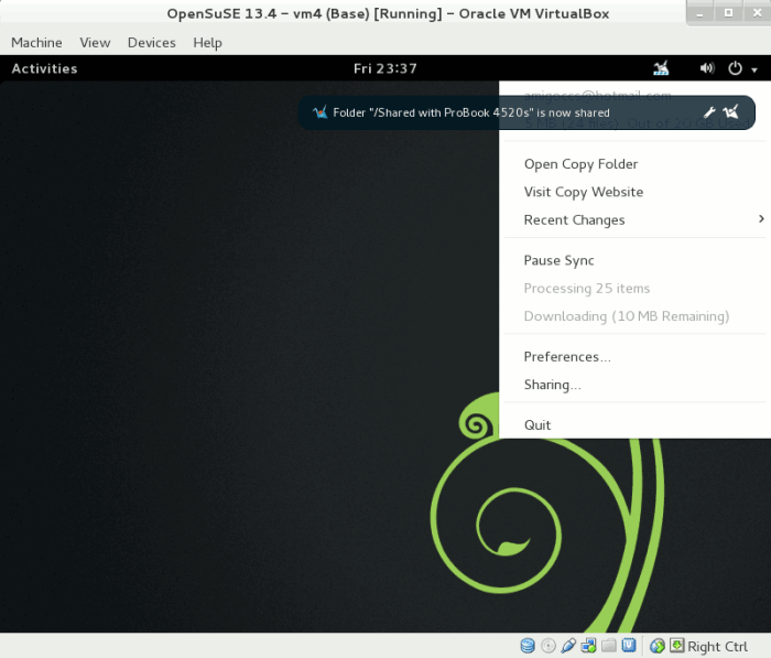 Official CopyAgent may be installed successfully on OpenSuSE 13.1