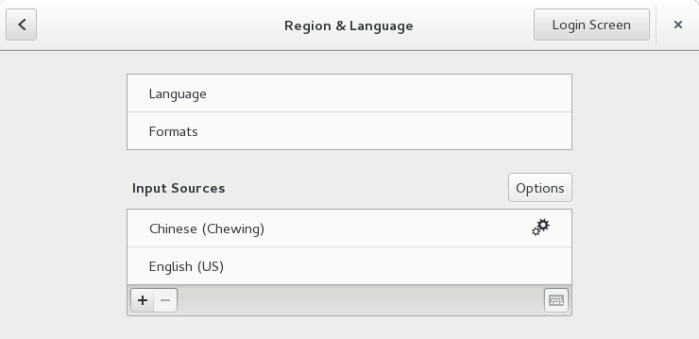 Region and Language in GNOME Settings