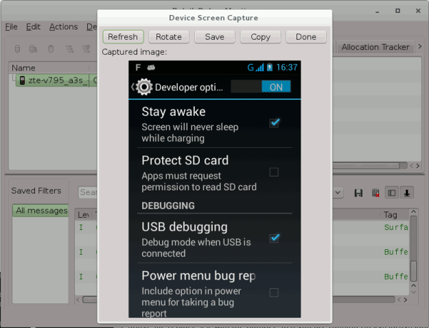 Android 4 2+ Screen Capture with DDMS via USB in Linux   Amigo's