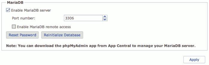 Reset MySQL in ADM