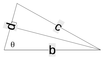 An isosceles triangle