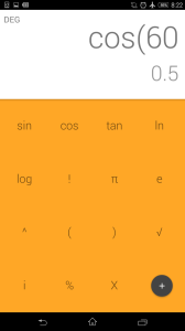 Google Calculator with cosine
